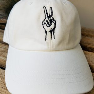og white deuces hat