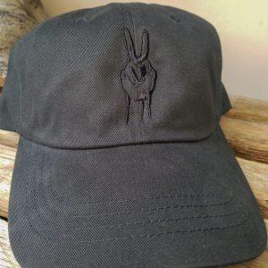 og black deuces hat