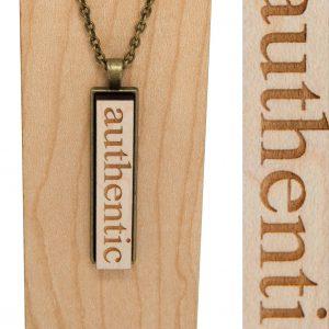 """""""authentic"""" drop pendant necklace"""