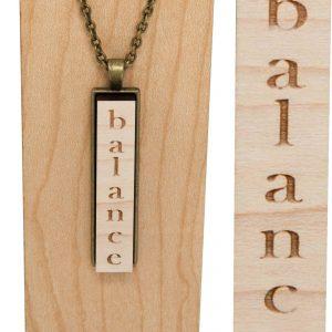 """balance"" drop pendant necklace"