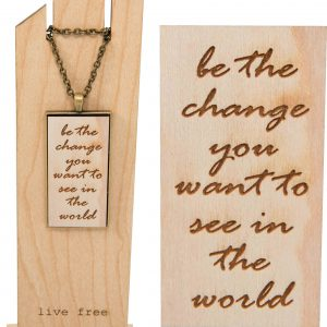 Be the change pendant necklace