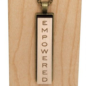 empowered narrow pendant necklace