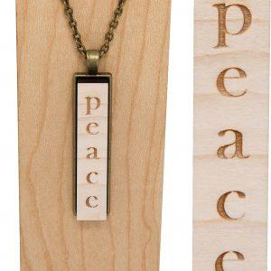 """""""peace"""" drop pendant necklace"""