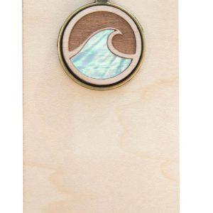 ocean wave abalone pendant necklace