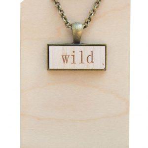 """""""wild"""" pendant necklace"""
