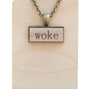 woke pendant necklace