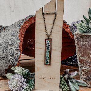 abalone narrow necklace